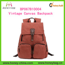 Vintage High Quality Outdoor Military Backpack Student Hiking Travel Backpack Bag