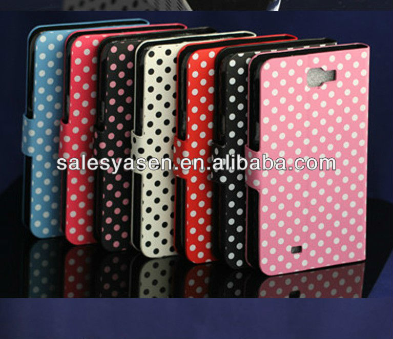 Pu leather case for samsung galaxy note 2 n7100