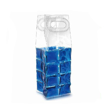 manufacturer plastic clear wine bottle pack ice cooler china gel pvc bag