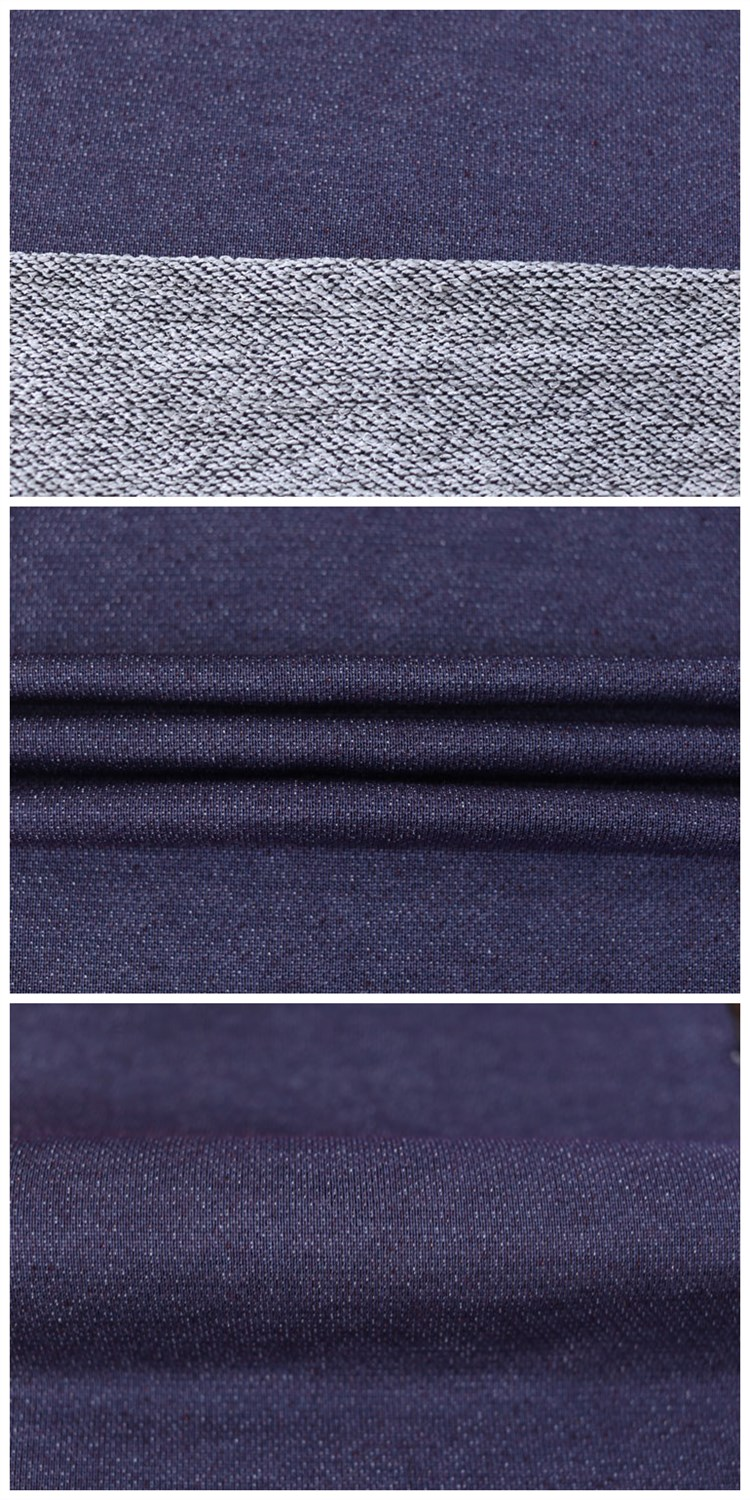 Beautiful Terry Cloth Denim Fabric Rayon Polyester Plain Fabric