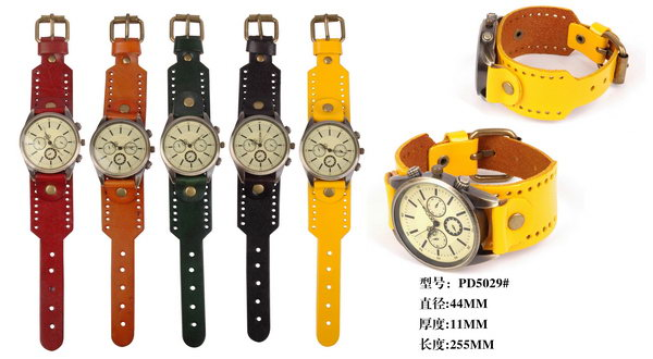 Good quality hot-sale custom thin leopard women leather watch
