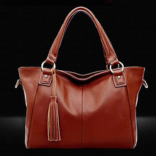 Direct from factory spring lady tote handbag high quality fashion bag with tassel cheap price SY6825