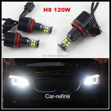 2017 New Error free led Marker Fog Headlight H8 120W C REE LED Angel Eyes for BMW X5 E70 X6 E71 E90 E91 E92 M3 E60
