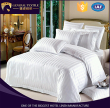 Luxury hotel textile supply, asatin stripe hotel bedding sets, bed sheet