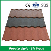 2015 Hot Sale Lighter Weight Colorful Stone Coated Metal Roof Tile