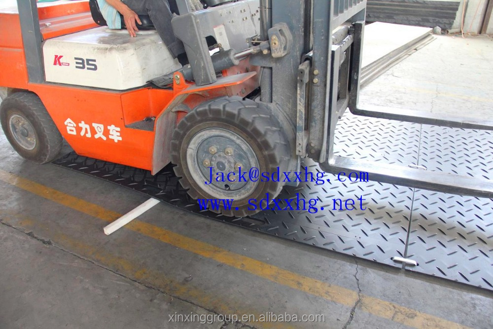Portable assembly temporary pavement/hdpe /uhmwpe ground mat