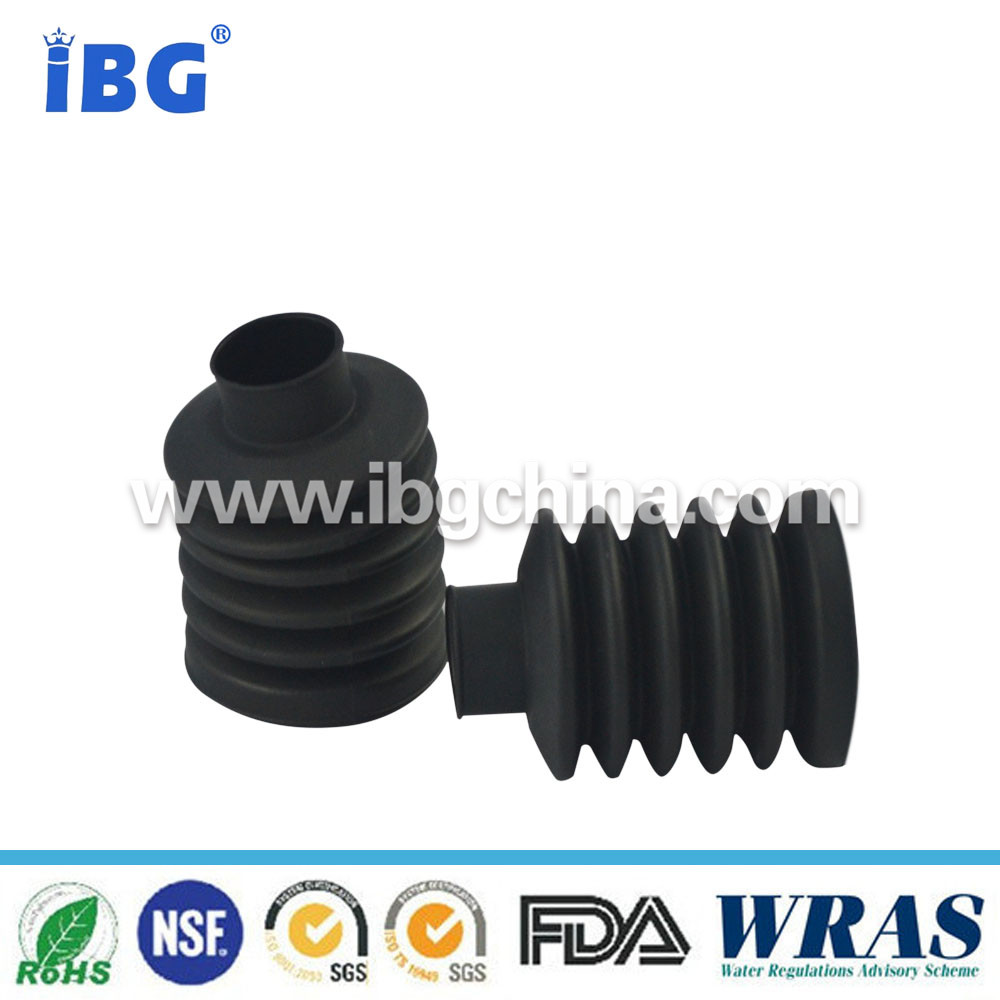 IBG high precision custom molded black HNBR rubber bellows tube