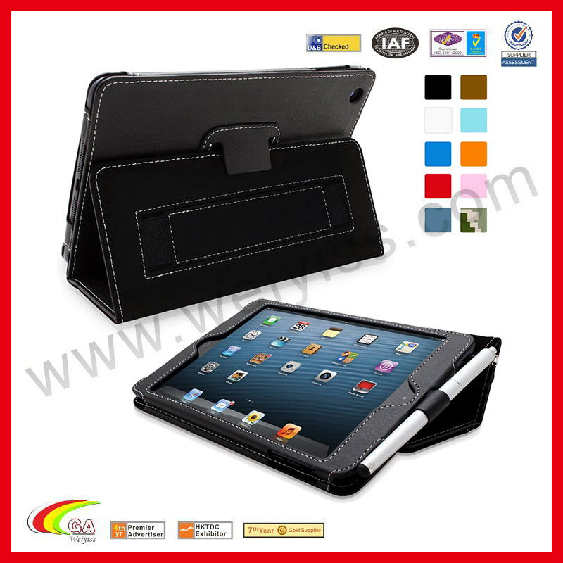 WYIPD-ABB028 PU Case for iPad 5 Case Leather ISO Approval