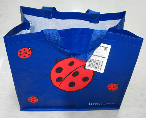 Tesco Reusable Multipurpose Eco Shopping Tote Ladybird Big Green ...