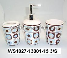 High Quality Ceramic Modern nice circlePattern Bathroom Set 3pcs