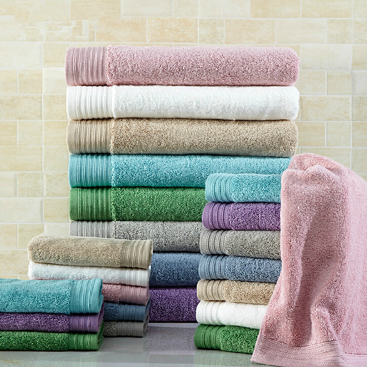 Refinement multi-color select bath towel packaging