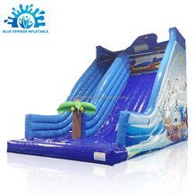 Blue Springs Pirate Ship Theme Air Filled Inflatable Slide