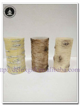 natural birch bark spa led candles for gift