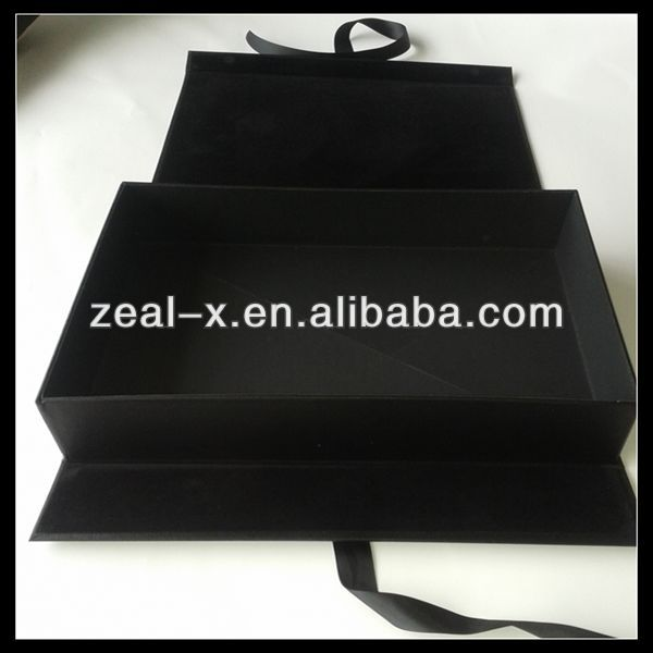 Custom Material Cardboard Covered With Suede PU Leather Cosmetic Gift Storage Box