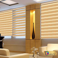 Dual Roller Blinds Zebra fabric for window curtains