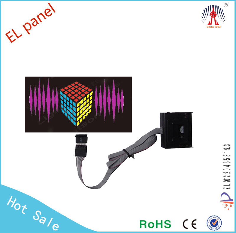 Sound activated custom LED t shirt EL t-shirt electronic t-shirt