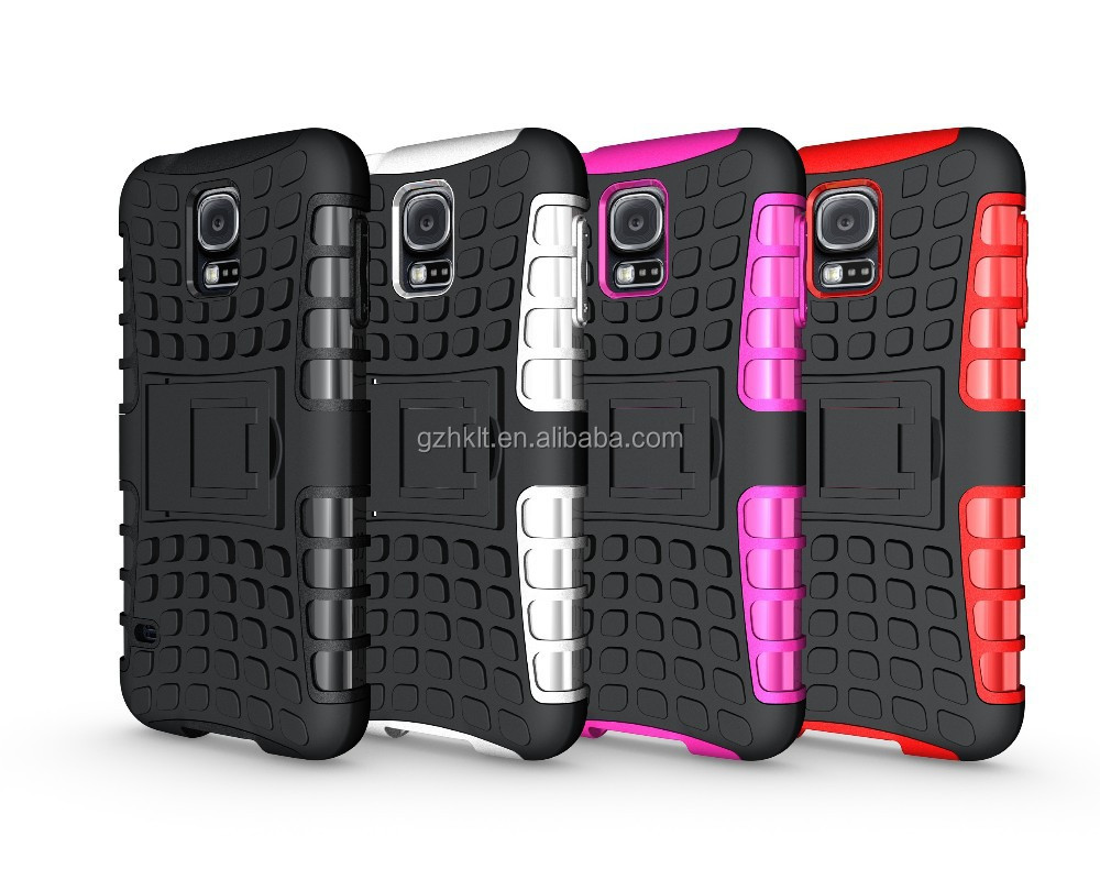 2014 2 in 1 armor stand case phone cover for Samsung Galaxy S5 i9600