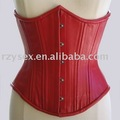 corset,underbust,red leather/pu