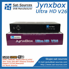 Jynxbox V26 with JB200 HD Module,DVB-S2,ATSC,WiFi Adapter included for North America