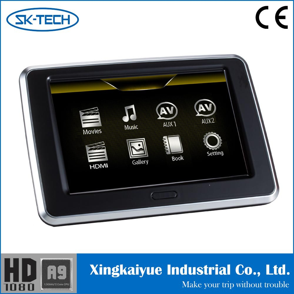 "Universal in car hdmi touch panel 9"" headrest monitor with MHL"