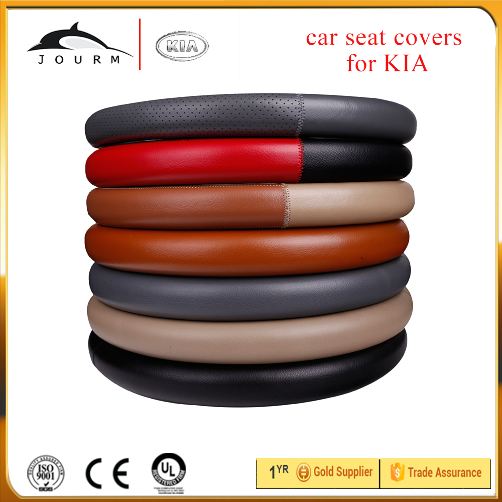 Soft And Temperature Resistant Car Steering Wheel Cover leather for K2 3 4 5 RIO VQ Kias