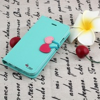 Fashion Girl Cute Cherry PU Leather Wallet Flip Case For iPhone 6 6S