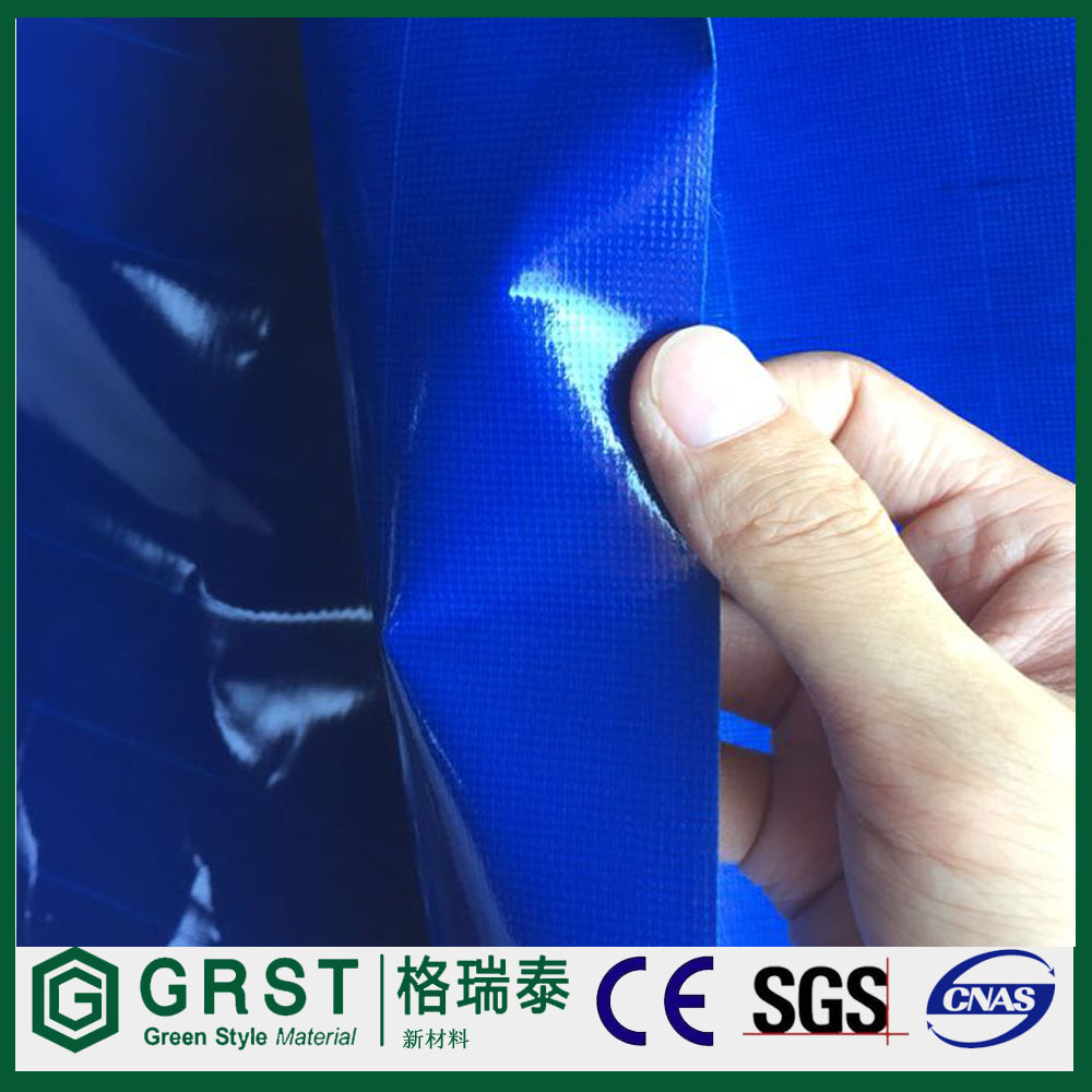 Waterproof Orange Blue PVC Tarpaulin / PVC Tarps Fabric Sheet / Roll for Cover& Boat