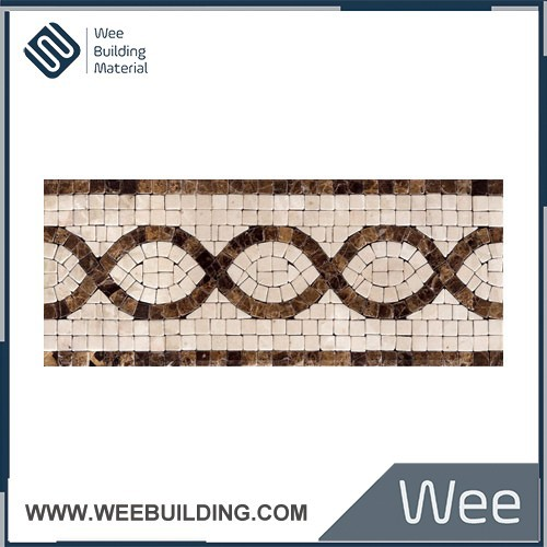 Oval Puzzle Mosaic Marble Waist Line Item: NB037
