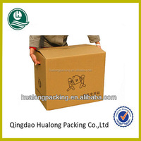 Brown carton box with die cut handle hole