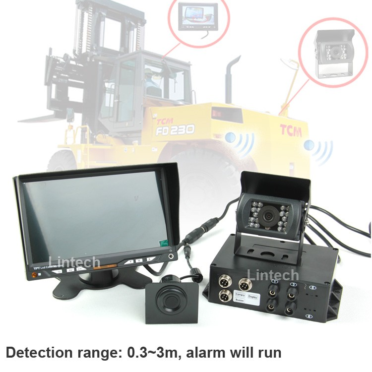Forklift Safety System With 7 Inch Monitor Back Camera And