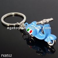 Italy Souvenir Metal Motorcycle Key Holder