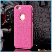 Hot Sale Aluminum bumper case with High quality PU leather wholesale price mobile phone case for iphone 6