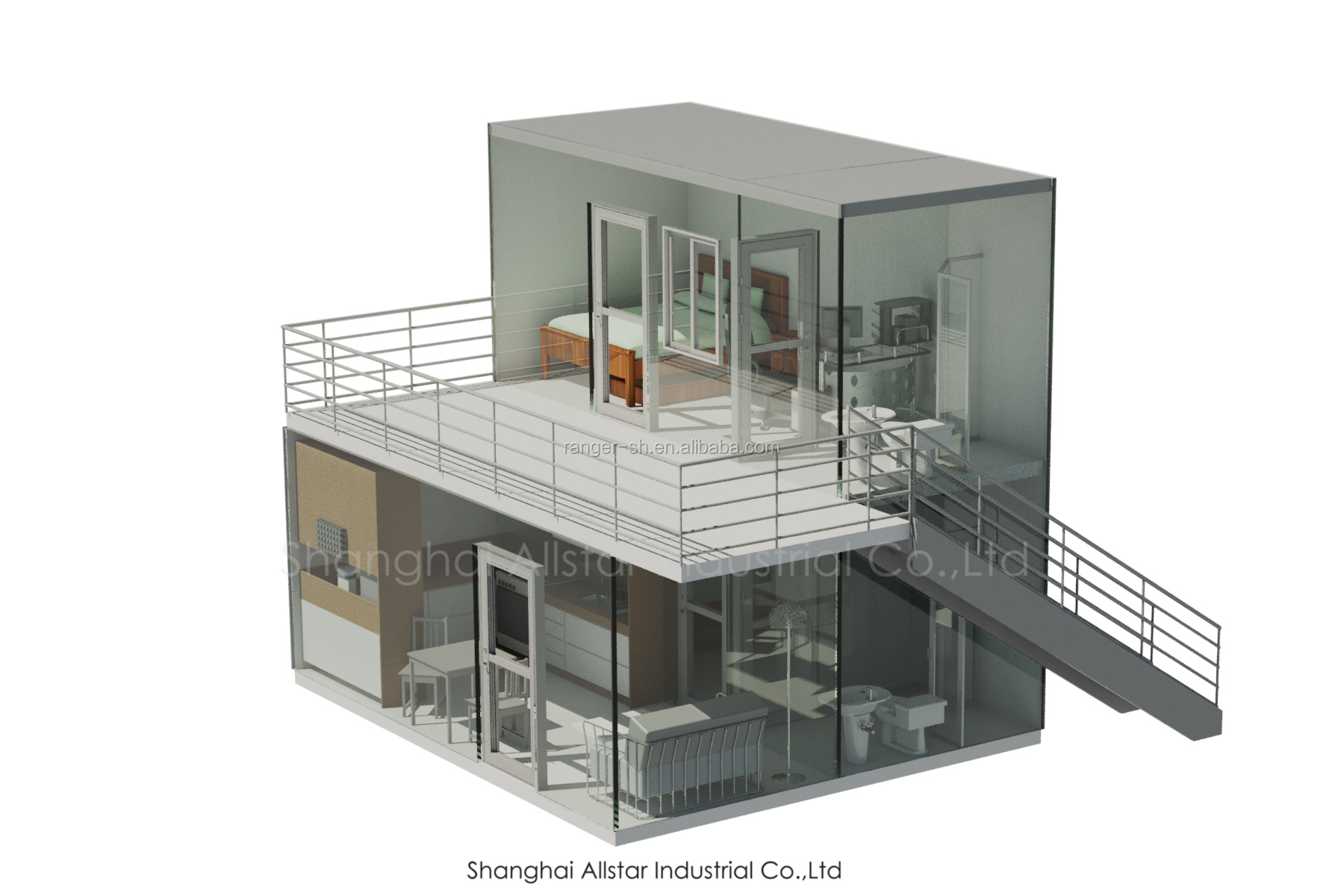 Low cost house design in Nepal made in China,new design prefab container house