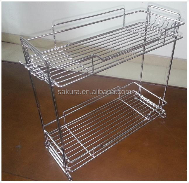 2 TIER CHROME WIRE STORAGE RACK FOR BATHROOM