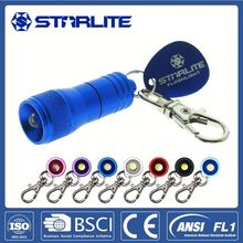 Mini pvc led keychain light with oem logo