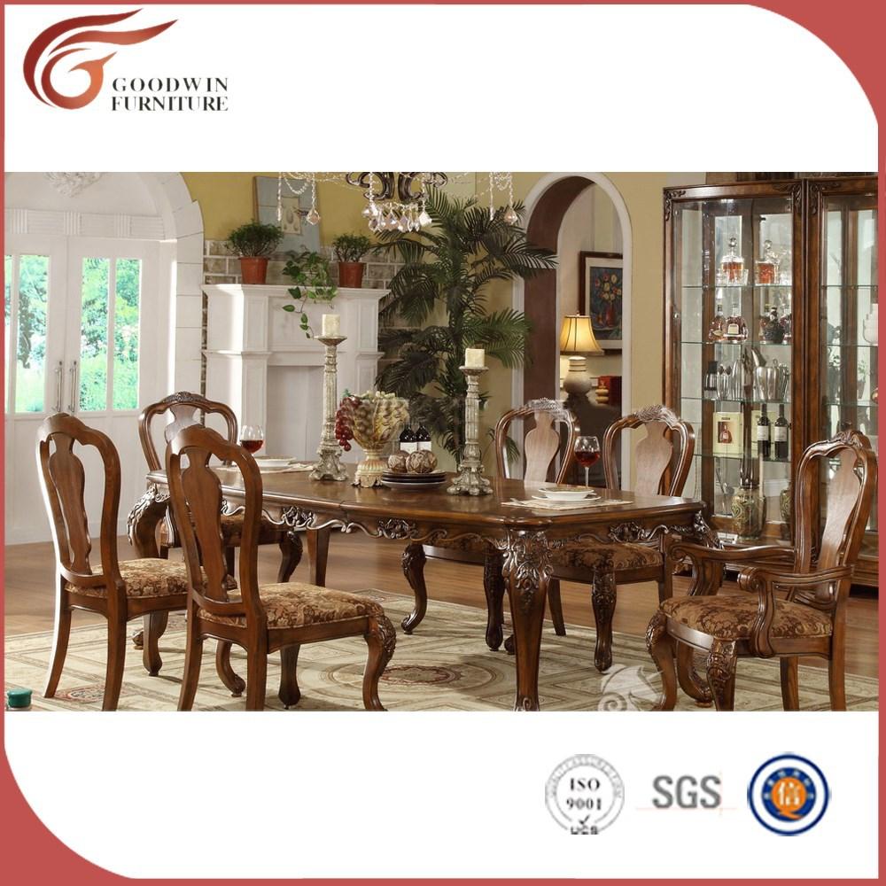 Mejor precio natural madera de roble mesa de comedor y - Muebles antiguos de comedor ...