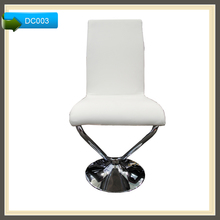 Sex genuine leather bar stools with chrome circle foot rest