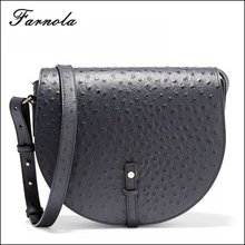 customized wholesale lady ostrich small leather cross body bag for wholesale