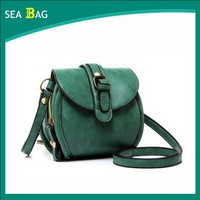 2016 Newest Trendy Woman Green Leather Small Cross-body Bag For girls & Party