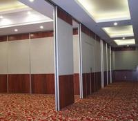 Restaurant wall divider dinner room movable wood wall divider with soundproof