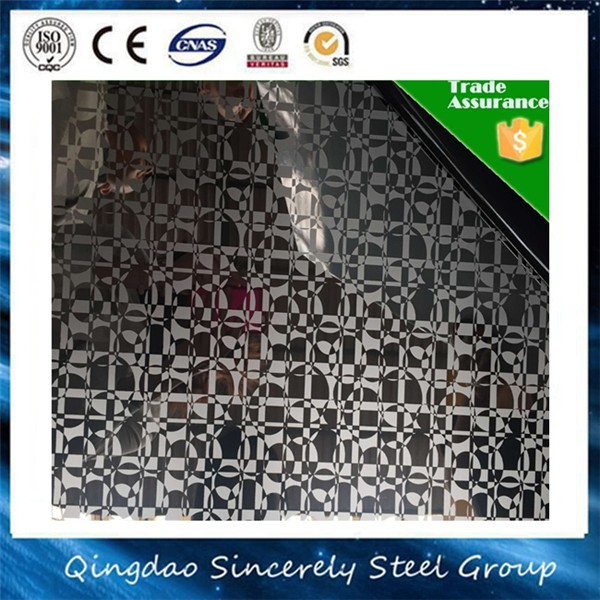 304 Super Etching 5C Finish Stainless Steel Sheet for Bathroom