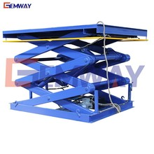 High performance skyjack in-ground scissor projector lift