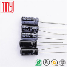 NEW ORIGINAL 100uf 16v 5*11 105C Aluminum electrolytic capacitor