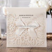 WISHMADE Classic Embossed Wedding Invitation Card