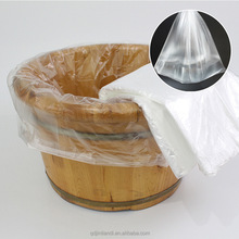 JTD wholesale water proof disposable foot tub bath liner bag for foot spa plastic bags