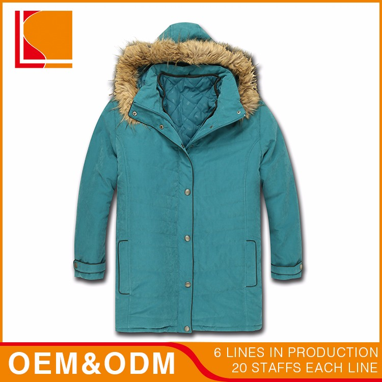 Shell 92% Polyester 8% Polyamide Woven Moss Fabric Casual Parka Hoodie Winter Woman Coat