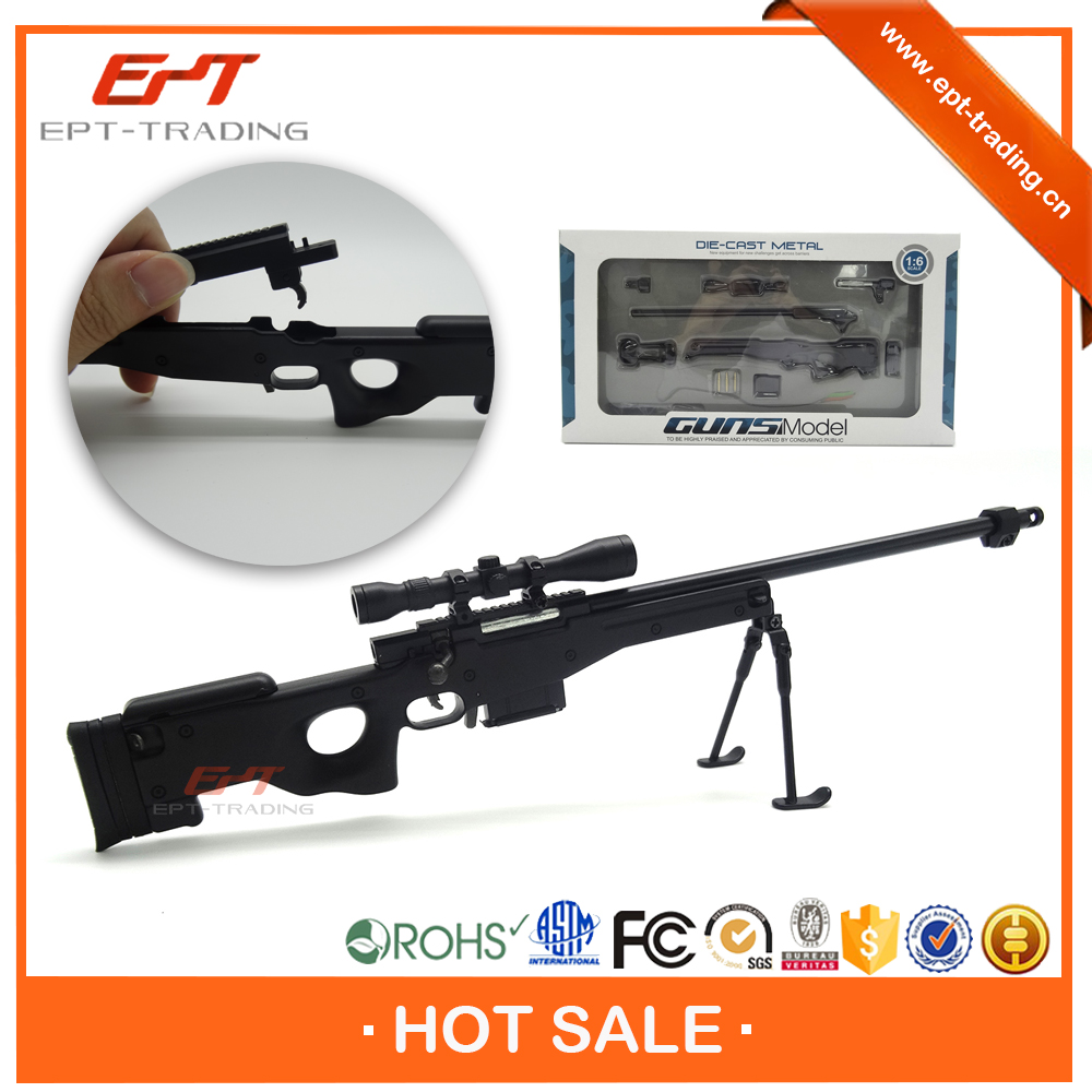 Hot selling high simulation AWP diecast metal toy gun model for sale