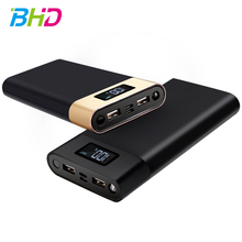 2018 New 30000mah Large Capacity Dual USB Output LCD Screen Portable Power Bank Polymer battery charger