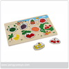 Wooden Toy Fruit shape recongnition Puzzle toy for kids