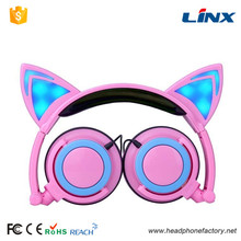 Colorful mobile foldable fashion headphone for girls
